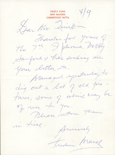 FREDRIC MARCH - AUTOGRAPH LETTER SIGNED