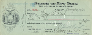 ALFRED E. SMITH - AUTOGRAPHED SIGNED CHECK 01/10/1920