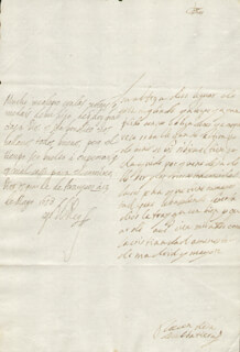 KING PHILIP IV (SPAIN) - AUTOGRAPH LETTER SIGNED 05/13/1658 CO-SIGNED BY: COUNTESS OF SALVATIERRA (ANTONIA MARCELA DE ACUÑA Y GUZMAN)