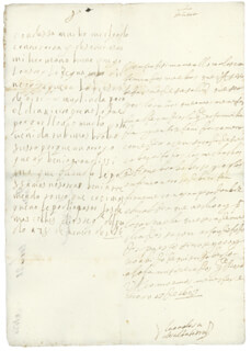 QUEEN MARIA TERESA (FRANCE) - AUTOGRAPH LETTER SIGNED 01/18/1657 CO-SIGNED BY: COUNTESS OF SALVATIERRA (ANTONIA MARCELA DE ACUÑA Y GUZMAN)