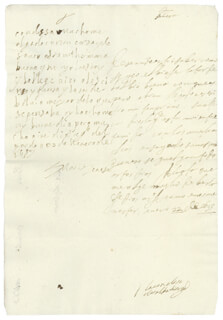 QUEEN MARIA TERESA (FRANCE) - AUTOGRAPH LETTER SIGNED 01/23/1657 CO-SIGNED BY: COUNTESS OF SALVATIERRA (ANTONIA MARCELA DE ACUÑA Y GUZMAN)