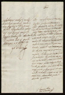 KING PHILIP IV (SPAIN) - AUTOGRAPH LETTER SIGNED 04/19/1659 CO-SIGNED BY: COUNTESS OF SALVATIERRA (ANTONIA MARCELA DE ACUÑA Y GUZMAN)