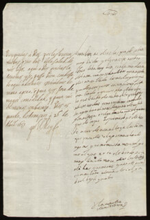 KING PHILIP IV (SPAIN) - AUTOGRAPH LETTER SIGNED 04/26/1659 CO-SIGNED BY: COUNTESS OF SALVATIERRA (ANTONIA MARCELA DE ACUÑA Y GUZMAN)