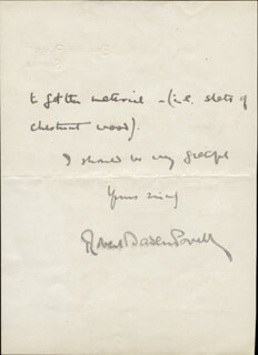 Robert Baden-powell Autographs 53462