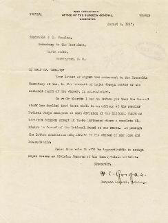 WILLIAM C. GORGAS - TYPED LETTER SIGNED 08/08/1917