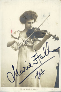 Autographs: MARIE HALL - PICTURE POST CARD SIGNED 1938