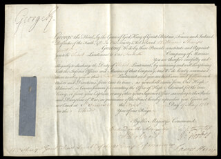 Autographs: KING GEORGE III (GREAT BRITAIN) - MILITARY APPOINTMENT SIGNED 05/01/1763