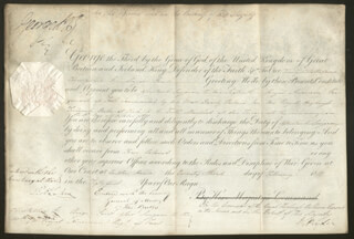 KING GEORGE IV (GREAT BRITAIN) - MILITARY APPOINTMENT SIGNED 02/23/1811 CO-SIGNED BY: RICHARD RYDER, GENERAL THOMAS BATES