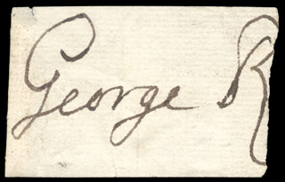 Autographs: KING GEORGE II (GREAT BRITAIN) - CLIPPED SIGNATURE