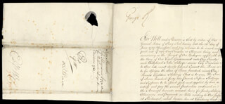 KING GEORGE II (GREAT BRITAIN) - DOCUMENT SIGNED 10/07/1742