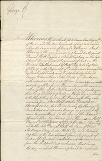 KING GEORGE II (GREAT BRITAIN) - DOCUMENT SIGNED 05/23/1746 CO-SIGNED BY: WILLIAM YONGE