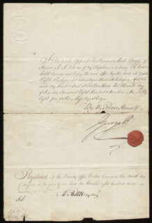 Autographs: KING GEORGE IV (GREAT BRITAIN) - CIVIL APPOINTMENT SIGNED 06/11/1819