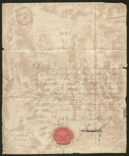 Autographs: KING GEORGE IV (GREAT BRITAIN) - CIVIL APPOINTMENT SIGNED 04/18/1805