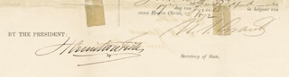 PRESIDENT ULYSSES S. GRANT - FOUR LANGUAGE SHIPS PAPERS SIGNED 06/17/1872 CO-SIGNED BY: HAMILTON FISH