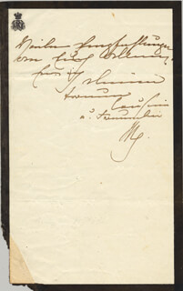 QUEEN VICTORIA (GREAT BRITAIN) - AUTOGRAPH LETTER SIGNED 08/30/1848