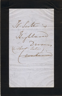 Autographs: QUEEN VICTORIA (GREAT BRITAIN) - AUTOGRAPH NOTE UNSIGNED