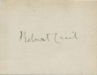 Autographs: ROBERT CECIL - SIGNATURE(S)