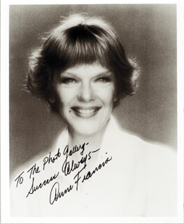 ANNE FRANCIS - AUTOGRAPHED INSCRIBED PHOTOGRAPH