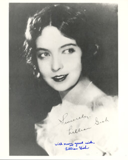 LILLIAN GISH - PRINTED PHOTOGRAPH SIGNED IN INK