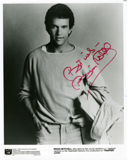 BRIAN STOKES MITCHELL - PRINTED PHOTOGRAPH SIGNED IN INK