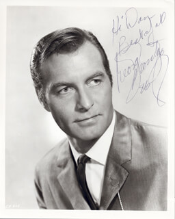 GEORGE MONTGOMERY - AUTOGRAPHED INSCRIBED PHOTOGRAPH 1986