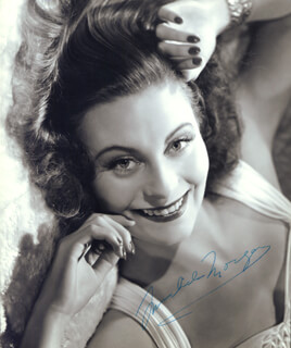 MICHELE MORGAN - AUTOGRAPHED SIGNED PHOTOGRAPH
