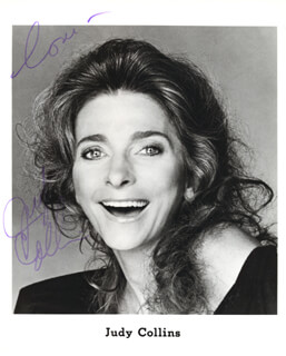 JUDY COLLINS - AUTOGRAPHED SIGNED PHOTOGRAPH