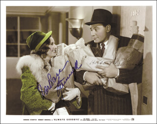 Autographs: ALWAYS GOODBYE MOVIE CAST - INSCRIBED PHOTOGRAPH SIGNED CO-SIGNED BY: BARBARA STANWYCK, HERBERT MARSHALL