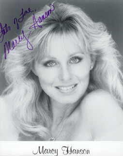 MARCY HANSON - AUTOGRAPHED SIGNED PHOTOGRAPH