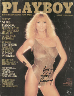 SYBIL DANNING - MAGAZINE COVER SIGNED 8/1983