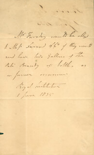 MICHAEL FARADAY - THIRD PERSON AUTOGRAPH LETTER 06/01/1835