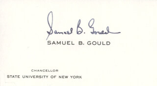 SAMUEL B. GOULD - CALLING CARD SIGNED