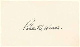 Robert C. Weaver Autographs 54148