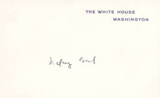 Autographs: MC GEORGE BUNDY - WHITE HOUSE CARD SIGNED