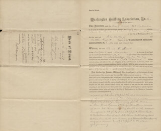 FREDERICK DOUGLASS - DEED SIGNED 09/25/1882 - HFSID 5419