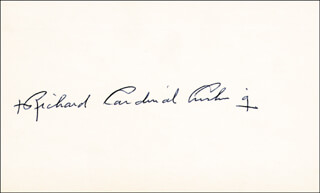 Autographs: RICHARD CARDINAL CUSHING - SIGNATURE(S)