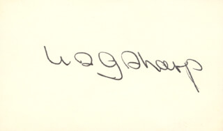 WILLIAM G. SHARP - AUTOGRAPH