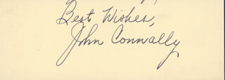 JOHN B. CONNALLY JR. - AUTOGRAPH