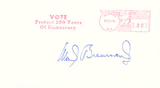 ASSOCIATE JUSTICE WILLIAM J. BRENNAN JR. - ENVELOPE SIGNED CIRCA 1975