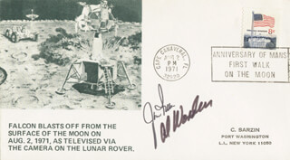 COLONEL JAMES B. JIM IRWIN - COMMEMORATIVE ENVELOPE SIGNED CO-SIGNED BY: COLONEL ALFRED M. WORDEN