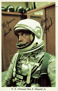 Autographs: REAR ADMIRAL ALAN B. SHEPARD JR. - INSCRIBED PICTURE POSTCARD SIGNED