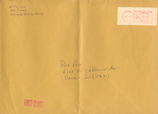 LT. COLONEL DICK (FRANCIS R.) SCOBEE - AUTOGRAPH ENVELOPE SIGNED 04/11/1977