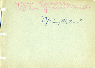 OLIVE REEVES-SMITH - AUTOGRAPH SENTIMENT SIGNED