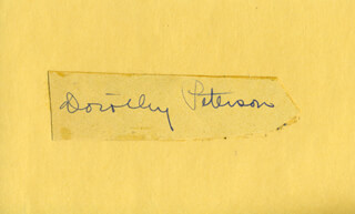DOROTHY PETERSON - CLIPPED SIGNATURE