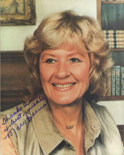 MARY REEVES - AUTOGRAPHED INSCRIBED PHOTOGRAPH