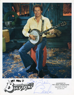 BUCK TRENT - AUTOGRAPHED INSCRIBED PHOTOGRAPH