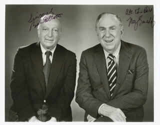 BOB & RAY - AUTOGRAPHED SIGNED PHOTOGRAPH CO-SIGNED BY: BOB & RAY (BOB ELLIOTT), BOB & RAY (RAY GOULDING)