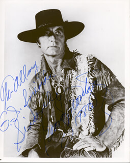 GEORGE MONTGOMERY - AUTOGRAPHED INSCRIBED PHOTOGRAPH 1980