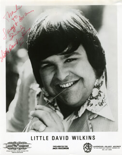 LITTLE DAVID WILKINS - INSCRIBED PRINTED PHOTOGRAPH SIGNED IN INK