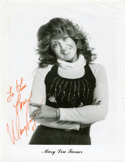 MARY LOU TURNER - AUTOGRAPHED INSCRIBED PHOTOGRAPH 1981